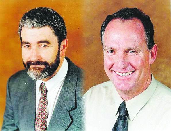 East Fremantle chief executive Stuart Wearne and Mayor Jim O'Neill.