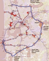 Curtin University Sustainability Policy Institute's public transport network plan.