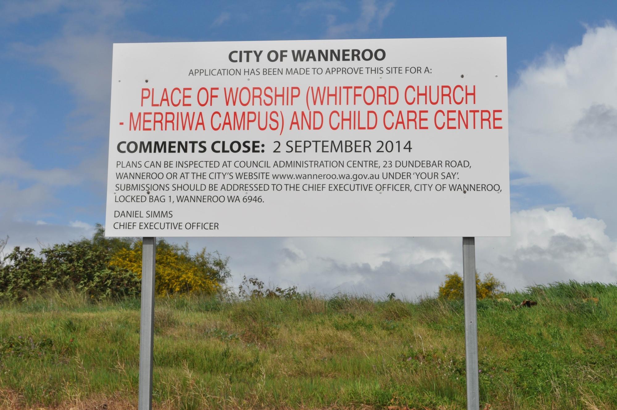 Have say on Merriwa church plans