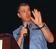 WA Police Commissioner Karl O'Callaghan speaks to students.
