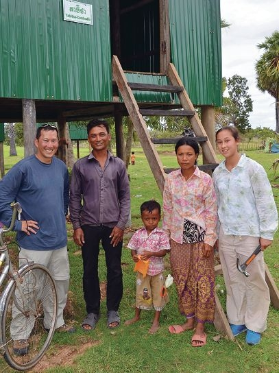 rotary team erect 15 homes