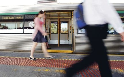 Use of public transport services has increased by 61 per cent over the past decade.