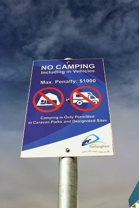 The City of Rockingham sign erected recently at the beach car park.