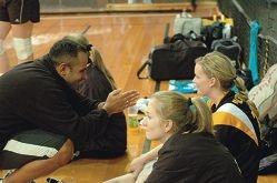 Coach serves awards ace