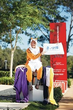 Dale Alcock in his onesie ahead of the CEO Sleepout fundraiser. Picture: Andrew Ritchie www.communitypix.com.au d421250