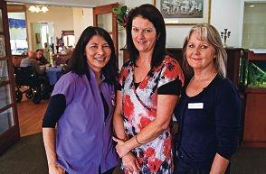 LtoR: Teresa Gardner (Day Club Assistant), Arlene Tucker (Coordinator Day Club), Karen Malone (McCusker Nurse South)