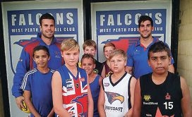 Falcons spreading footy message