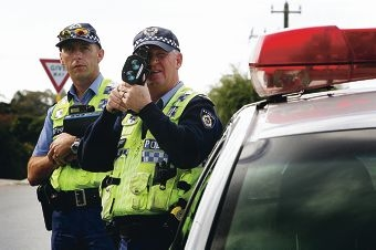 Senior constables Michael Brent and Allan Mawdesley from West Metro Traffic Patrol.        (names OK)