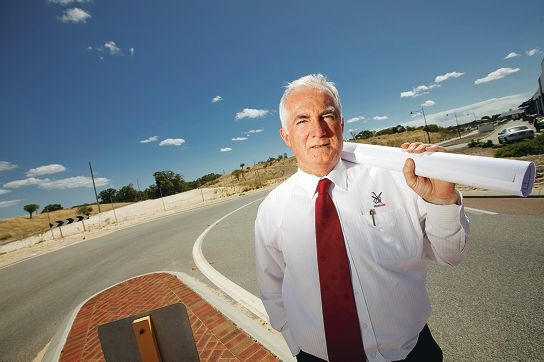 City of Swan CEO Mike Foley at Lloyd Street... the council and local businesses had been lobbying for a full upgrade to Lloyd Street but will have to settle for the smaller underpass project. Picture: Matthew Poon d348245