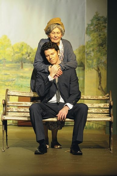 Trish Bona as Mrs Watts and Simon O'Neill as Ludie in Roleystone Theatre's The Trip to Bountiful.