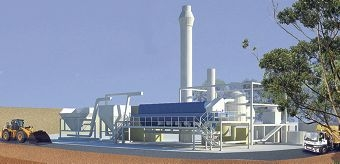 An artist's impression of the proposed Hazelmere pyrolysis plant.