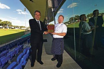 Peel Thunder chief executive Bill Kostandas and head chef Glenn Sutton.