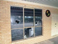 Damage to the Mandurah Murray Vietnam Veterans clubhouse in Ravenswood.