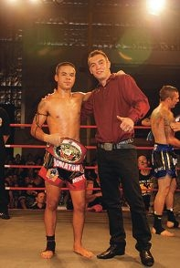 Muay thai fighter Danial Williams with his manager Parviz Iskenderov.
