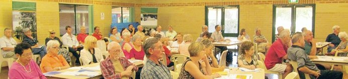 Local residents at one of the three public forums held to discuss amalgamation.
