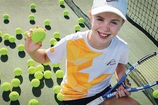 Talia Gibson has a bright future in tennis. Picture: Marcelo Palacios www.communitypix.com.au d415926