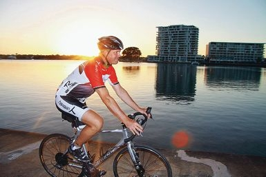 Clark Wright has put in about 6000km in his efforts to prepare for the Ride for Youth. Picture: Gabrielle Jeffrey