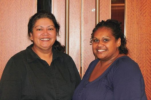 National senior consultant for the NEP Adele Cox (left) and Northam co-researcher Dezerae Miller.