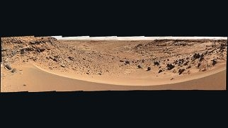 A Martian valley photographed by Mars Rover Curiosity on January 30, 2014. Picture: NASA