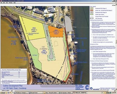 Outline of the Nairn Road development plan at Coodanup.