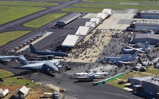 An aerial photo of RAAF base Pearce during last year's Air Show.