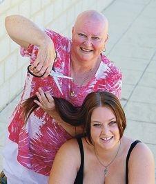 Karen with her daughter Lauren Goodheart. Picture: Bruce Hunt d414200