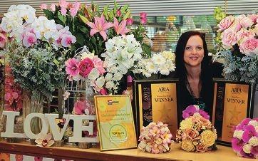 Christine Blackshaw's Willetton Wedding Flowers has a knack of winning major awards.