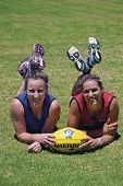 Kara Donellan and Chelsea Randall will take part in the AFL's newest competition: the AFL9s.