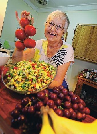 Elfie Joost of Shelley recently took part in a health program.
