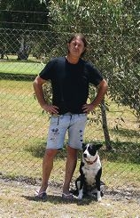 Tony Pola with his dog Rosie is concerned about the possible housing development.