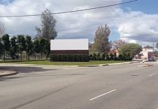 The site of the billboard at Walter Road.