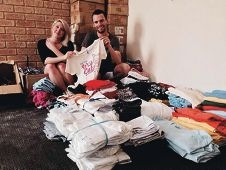 homeless receive packs with some necessities