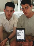 Liam Hill and Jake Lynch are developing an app to improve transport options. Picture: Martin Kennealey d412675