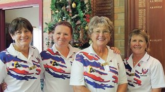 Northam Ladies Bowling Club finalists Barbara Siekierka, Nat Batkin, Wendy Mitchell and Jenny Parker.