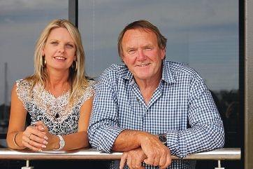 Nigel Hallett and new electorate officer Janine Neeling at his Mandurah Marina office.