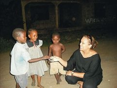 Melissa Mngara on a visit to Tanzania.