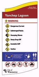 An example of a sign that will be erected at Yanchep Lagoon.