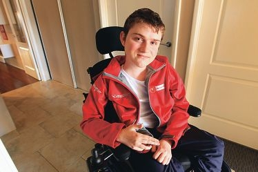 Liam Good is involved in remote controlled car racing, wheelchair rugby, hockey and soccer, among other things. d409671