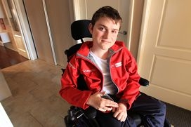 Liam Good is involved in remote controlled car racing, wheelchair rugby, hockey and soccer, among other things.