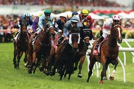 The action at last year's Melbourne Cup.
