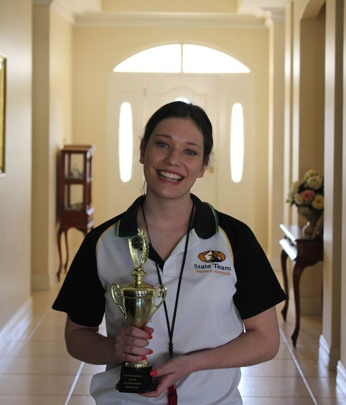 Stephanie was thrilled to win her Student Referee of Championships award.