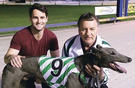 Daniel Adair and trainer Martin Adair with speedy chaser Nothing to Hide.