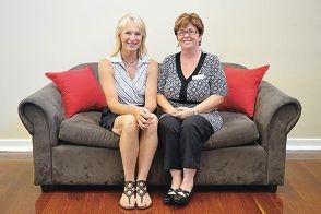 Tanya Langford and Sharron Jones are examining teen  aggression. Picture: Jon Hewson www.communitypix.com.au d396806