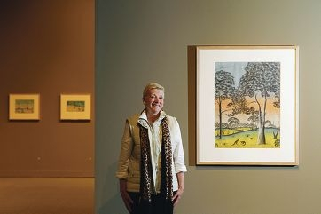 New York based professor Ellen Kraly helped bring the collection of stolen generation art from the US to the John Curtin Gallery. Picture: Martin Kennealey d408521