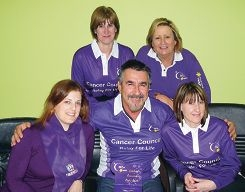 Cassie Houghton, Sharon Burrell, Jeff Gray, Trish Gray and Karen Dent are ready for the Relay for Life.