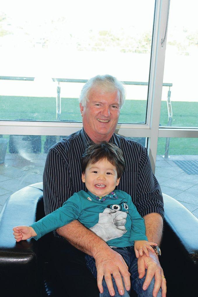 Jon Williams and his grandson Mitchell Arkell.