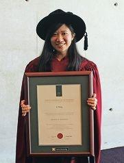 Curtin University PhD graduate Li Tang.