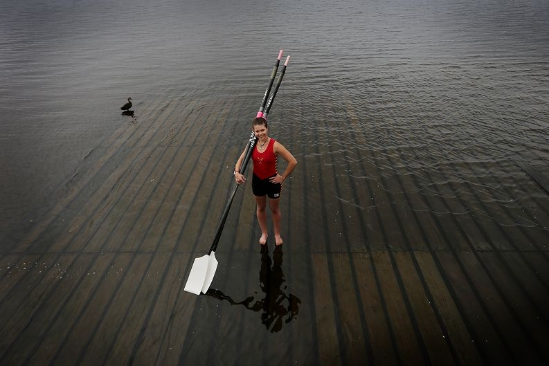 Am y Walters is raising money for charities that have inspired her during her recovery from an eating disorder. Picture: Andrew Ritchie www.communitypix.com.au d408061