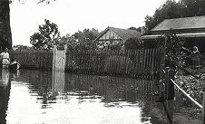 The 1926 flood hit North Road in Bassendean.