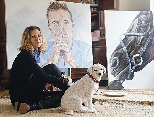 Roslyn Nolen with portraits of her nephew Luke and champion galloper Black Caviar. Picture: Marcus Whisson ...d407552